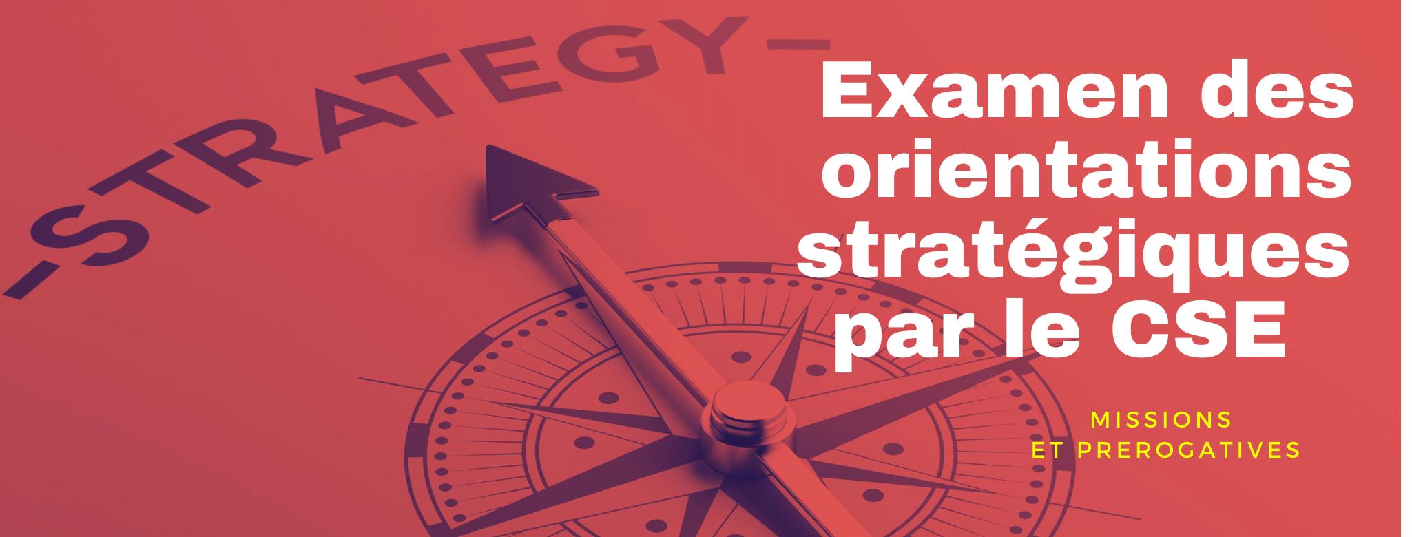 examen des orientations stratégiques les experts cse